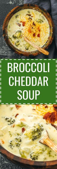 Broccoli cheddar soup - Its easy to make a broccoli cheddar cheese soup from scratch. Healthy and low carb. Healthy Diet Recipes, Lunch Recipes, Easy Dinner Recipes, Low Carb Recipes, Easy Meals, Cooking Recipes, Appetizer Recipes, Easy Broccoli Cheddar Soup, Cheddar Cheese Soup