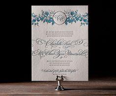 Delambre Classic letterpress wedding invitation by Bella Figura. Customize yours with Paper Passionista.