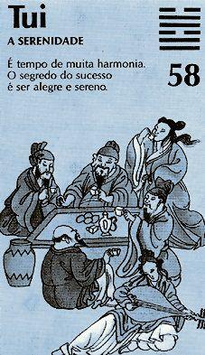 """El hexagrama 58 es llamado 兌 (tui), """"Lo Sereno""""."""