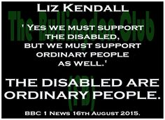 so #LizKendall doesn't reckon #disabled peeps are ordinary another reason to vote #JeremyCorbyn #VoteCorbyn