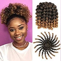 3 Packs Ombre Jumby Wand Curls Twist Crochet Hair Extensions Synthetic Crochet Braids for Black Women Xtrend Hair Braided Hairstyles Updo, Crochet Braids Hairstyles, Braided Updo, Layered Hairstyles, Hairdos, Wedding Hairstyles, Crochet Hair Extensions, Synthetic Hair Extensions, Extensions Hair