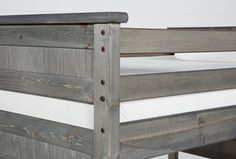 Summit Grey Twin Over Full Bunk With Trundle/Mattress & Stairway Dog Bunk Beds, Full Bunk Beds, Bunk Bed Decor, Southwestern Bedding, Attic Bed, Bedding Inspiration, Bed Slats, Bed With Drawers