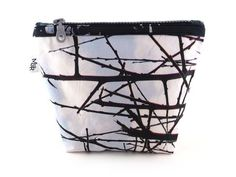 Handmade Thorns Makeup Bag with Chunky Silver Zip from maxandrosie.co.uk