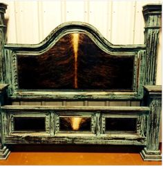 Ranch distressed turquoise bed