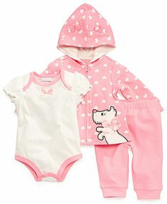 First Impressions Baby Girls' 3-Piece Bodysuit, Hoodie & Pants Set - Kids Baby Girl (0-24 months) - Macy's