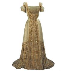 Gown, 1910, Metropolitan Museum ❤ liked on Polyvore featuring dresses, gowns, costume and medieval