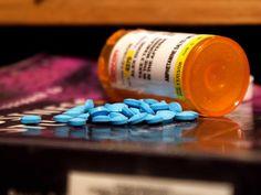 Adderall pills on magazine