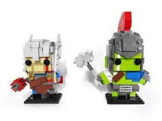 Thor and Hulk (Ragnok) Brickheadz