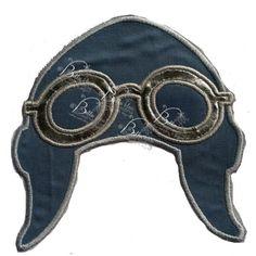 Pilot Flyer and goggles Hat  Applique Embroidery Designs Design Monogram