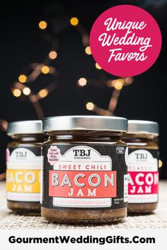 Unique wedding ideas and corporate gift ideas for bride and groom. Thoughtful and unique wedding favor ideas o Jam Jar Wedding, Wedding Favour Jars, Wedding Party Favors, Wedding Pins, Fall Wedding, Inexpensive Wedding Favors, Unique Wedding Favors, Unique Weddings, Wedding Ideas
