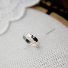 folky heart wedding ring