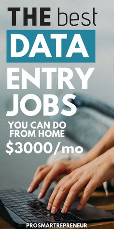 Data entry jobs are great for those who want to make easy money from home. To qualify, you just need a PC and good typing skills with great accuracy. If you're interested in a work from home data entry job you should check out the Start A Business From Home, Work From Home Careers, Work From Home Companies, Legit Work From Home, Online Jobs From Home, Online Work, Online Side Jobs, Online Business, Online Data Entry