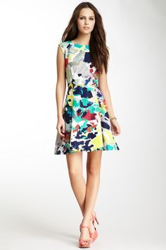 A-Line Print Dress by Rachel Roy on @HauteLook, this is adorable, the details are perfect, the back is hot.