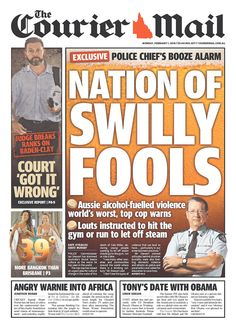 #20160201 #Australia #Brisbane #TheCourierMail Monday, FEB 1, 2016 http://www.newseum.org/todaysfrontpages/?tfp_show=80&tfp_page=7&tfp_id=AUS_CM