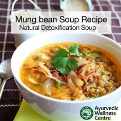Ayurvedic Recipe:   Subscribe to our newsletter to find out more Ayurvedic Recipes:  http://ayurvedicwellnesscentre.com.au/ayurveda-sydney-subscribe/  Green Mung Bean Soup  This tridoshic and natural detoxification soup is one of the powerful soups in Ayurveda...   Read more to learn & prepare this green mung bean soup at home:  http://ayurvedicwellnesscentre.com.au/mung-bean-soup-recipe/