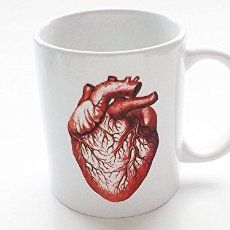 This anatomical heart coffee mug is amazing! Would love to have my morning brew in this. red Anatomical Heart 11 oz. ceramic coffee mug professor medical resident gift: Handmade nursing, medical, med school, cardiac, cardiology, anatomical, anatomy, nurse affiliate