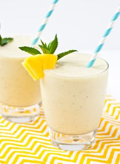 Pineapple and mint make the ultimate refreshing summer smoothie.