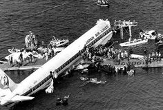 Water Landings: Japan Airlines Flight 350 (1982). Crashed in Tokyo Bay. Deliberate crash by co-pilot. Deaths 24.