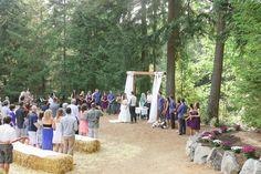 Trinity Pines Ranch Ceremony Site | La Center WA | Wedding Venue with redwoods, field, trees, lake, woods, rustic ranch, private wedding venue