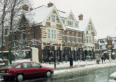 Dulwich Village Dulwich South East London England in Snow