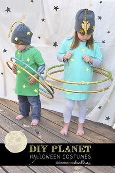 DIY Planet Halloween Costumes. Perfect for your children to dress-up this year…