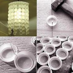 recycle your bottle caps into a lamp