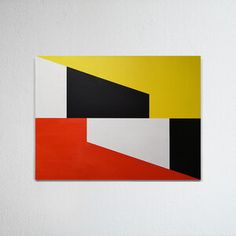 Hard-edged painting / geometric abstraction by British artist Gary Andrew Clarke Geometric Poster, Geometric Shapes, Hard Edge Painting, Diy Artwork, Diy Art Projects, Decoration, Landscape Paintings, Fantasy Art, Modern Art