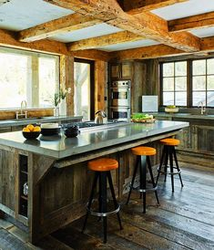 Ski house kitchen. Photography by Audrey Hall