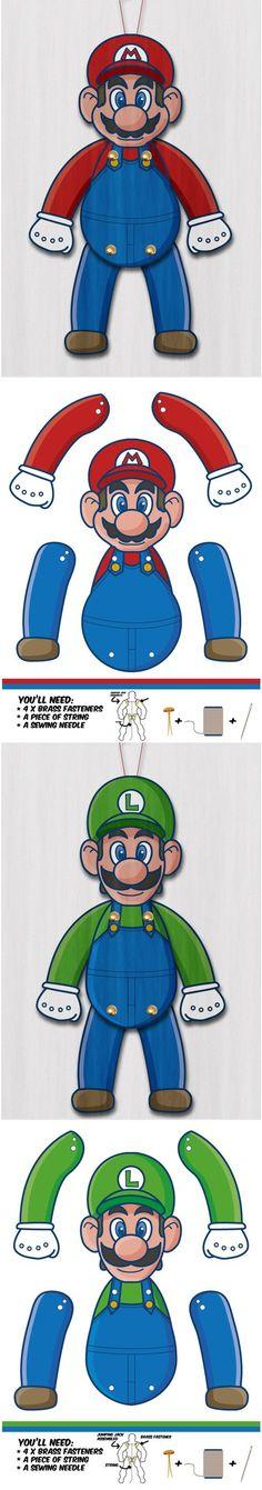 Mario bross regalo puerta homenajwado