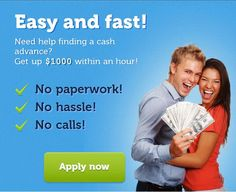 Advance Until Payday - Payday Loans - Cash Until Payday