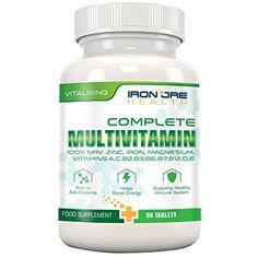 Complete Multivitamin – Die besten Vitamine, die man nur 1 x am Tag nehmen muss: für optimale Gesundheit, Vitalität, Unterstützung des Immunsystems, Zink, Eisen, Magnesium, 100% ETD an A C B2 B3 B6  http://www.vitalwebshop.info/produkt/complete-multivitamin-die-besten-vitamine-die-man-nur-1-x-am-tag-nehmen-muss-fuer-optimale-gesundheit-vitalitaet-unterstuetzung-des-immunsystems-zink-eisen-magnesium-100-etd-an-a-c-b2-b3-b6/