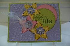 Delight In Life Easter Card by octoberbabe - Cards and Paper Crafts at Splitcoaststampers
