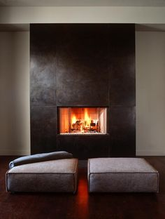 Cary Bernstein Architect Choy 1 Residence Modern Living Room San Francisco By Rettinger Fireplace Systems