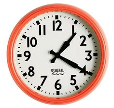 Buy General Eclectic Retro School Clock (Yellow) online and save! Rewind back to your school days with General Eclectic's retro School Style Clock in Yellow! Sure to bring back fond memories and keep you on schedule!