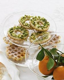 Lemon-Pistachio Wreaths - Martha Stewart Recipes - Add cranberries for a Christmas look!