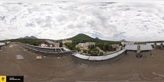 """Панорама с крыши санатория """"Бальнеогрязелечебница"""", г. Железноводск"""