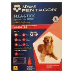 2 Wholesale Lots Adams Pentagon Flea and Tick Spot On for Dogs - For Extra Large Dogs or Puppies, 12 Month Supply Total *** Startling review available here  : Flea and Tick Control