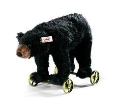 New for Spring 2014! Steiff Black Bear On Wheels EAN 034428