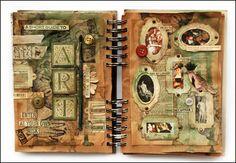 Art journal pages by Polish artist Finnabair (Anna)