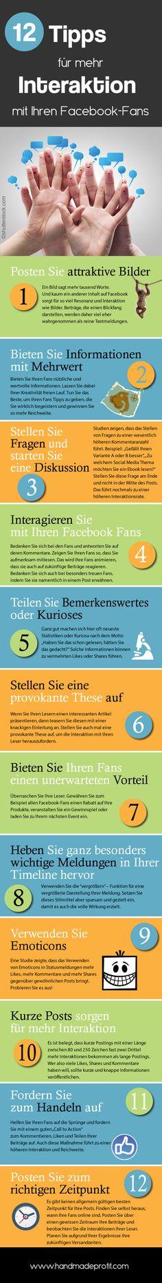 12 Tipps für mehr Interaktion mit Ihren Fansbook-Fans © http://www.handmadeprofit.com