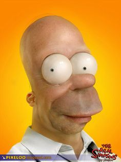 """Real life"" Homer Simpson by Pixeloo"