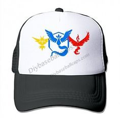 WholesaleArtist Pokemon Go Teams Adult Nylon Adjustable Mesh Hat Mesh Caps  Black One Size Fits Most 08b26decdf0