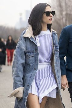 Obsessed with this longline denim jacket