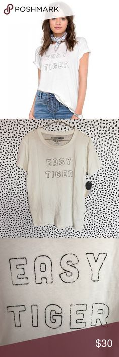 Amuse Society Easy Tiger Tee •Perfectly oversized everyday tee in a premium cotton jersey.  •Size XS, relaxed fit.  •New with tag.  •NO TRADES/HOLDS/PAYPAL/MERC/VINTED/NONSENSE. Amuse Society Tops Tees - Short Sleeve