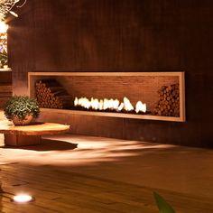 lareira design simples com moldura Design Simples, Interior And Exterior, Interior Design, O Gas, Garden Architecture, Decoration, Fireplaces, Habitats, Minimalism