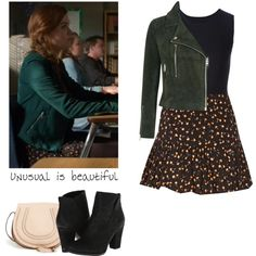 Lydia Martin - tw / teen wolf by shadyannon on Polyvore featuring Topshop, Forever 21, Maison Margiela, Vince Camuto and Chloé