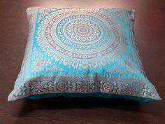 10 Piece Indian Handmade Decorative Silk Brocade Traditional Home /& Living Room Decor Vintage Pillowcases Embroidery Work Silk Boho Chic Bohemian Couch Throw Pillow Insert Mandala Cushion Cover GANESHAM