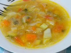 Bean Soup Recipes, Healthy Diet Recipes, Greek Recipes, Vegetable Recipes, Food To Make, Curry, Food And Drink, Tasty, Vegetables