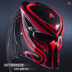 "Options airbrushing helmet ""Predator"" | Nitrinos"