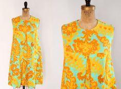 Vintage 1960s Tent Dress / 60s Sleeveless by LovefieldVintageCo, $42.00
